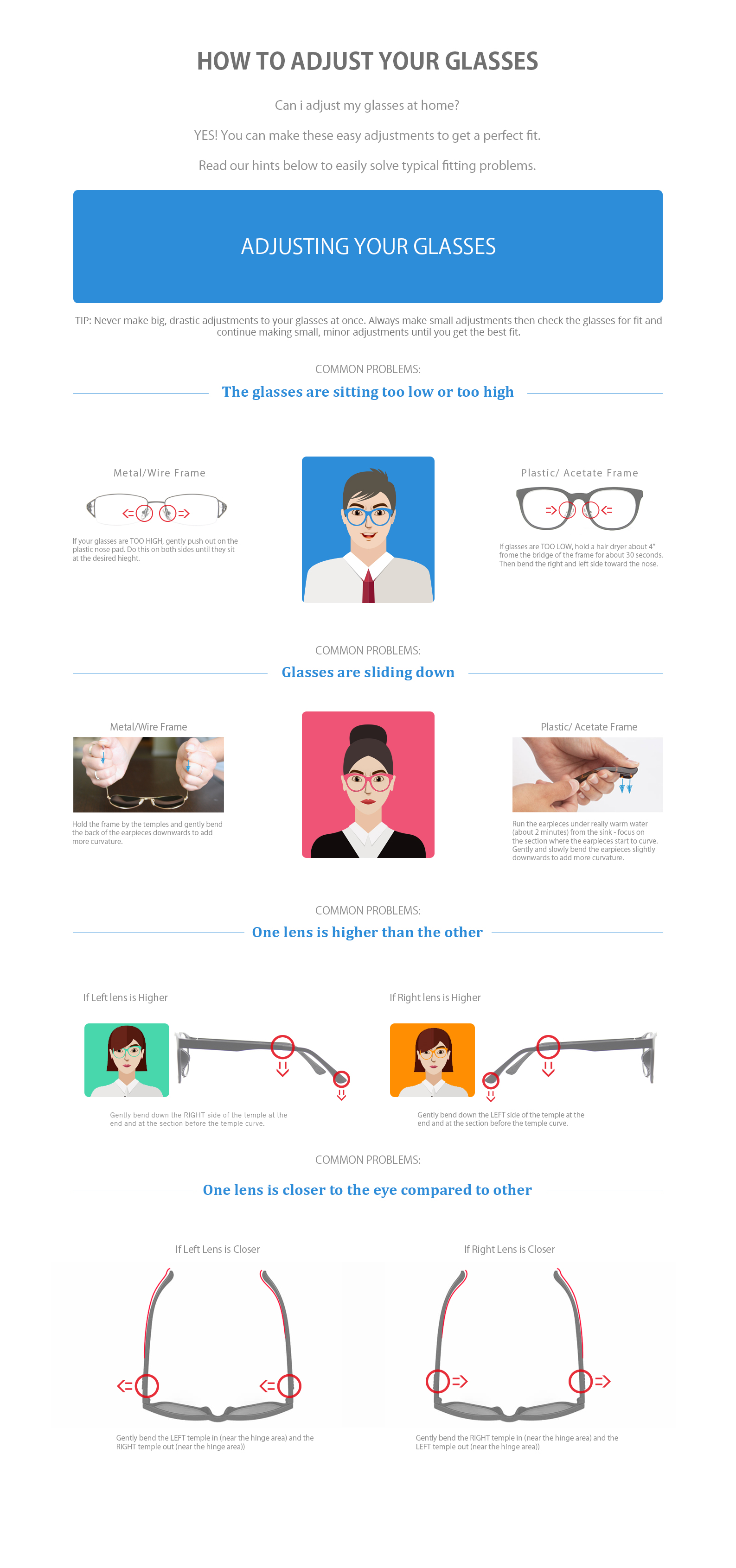 How To Adjust Glasses Frames - Best Glass 2017